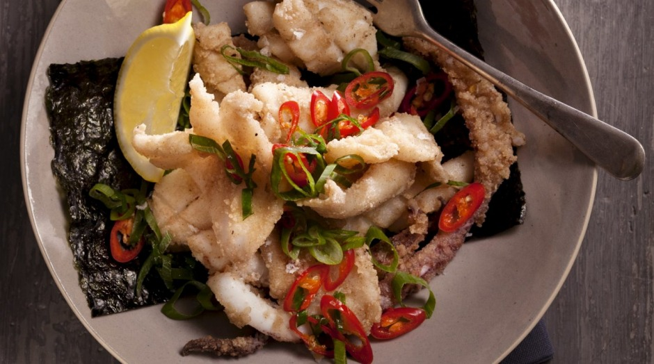 Restaurant favourite: Salt and pepper squid.