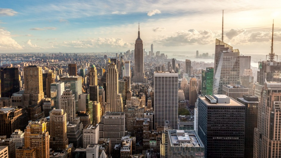 The famous skyline of New York City.