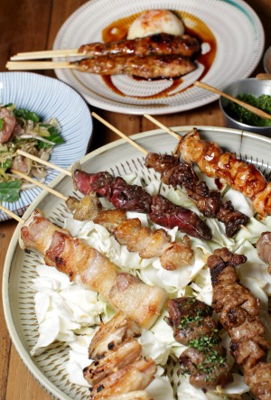 Yakitori skewers at Chaco Bar in Darlinghurst.