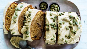 Helen Goh's pumpkin spice loaf with optional icing (omit for dairy-free).