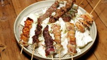 Yakitori skewers at Chaco Bar in Darlinghurst, Sydney.