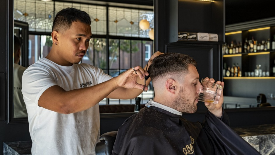 Concord's new barbershop doubles as a  whisky bar.