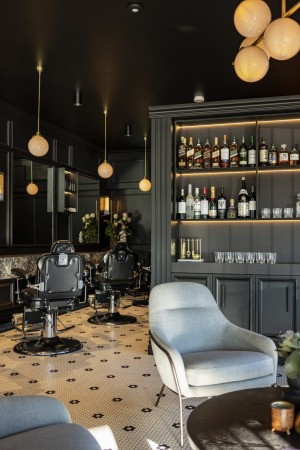 A whisky at Blade and Barrel is delivered with a cut, flatbed wash and massage.