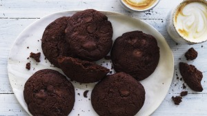 Chewy black forest biscuits.