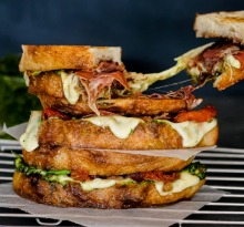 Loaded caprese toasted sandwiches.