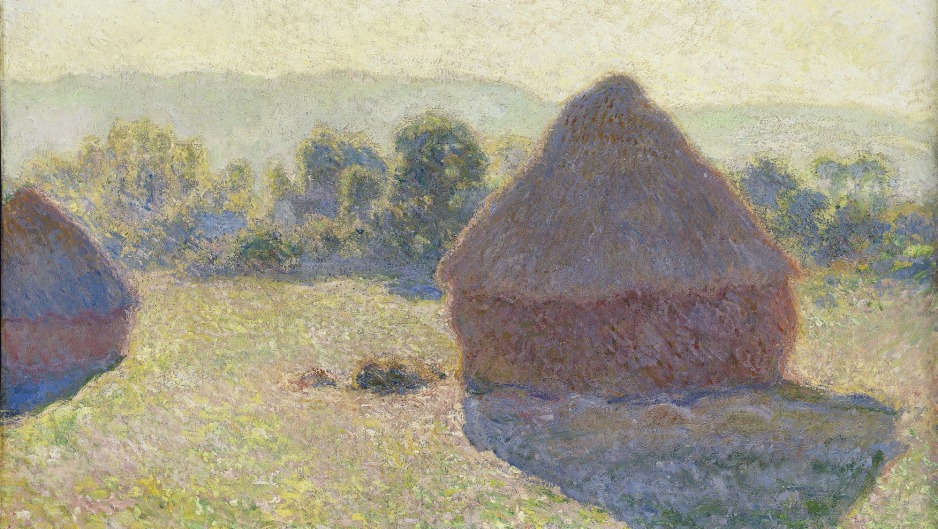 Meules, milieu du jour [Haystacks, midday] (detail) from the Monet: Impression Sunrise exhibition.