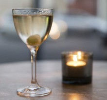Cucumber Gibson served at Cutler & Co in Fitzroy.  Photograph by Paul Jeffers The Age GOOD FOOD 28 Jun 2019