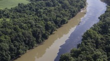 State officials warned recreational users on the Kentucky River that runoff will result in water discoloration, foaming ...
