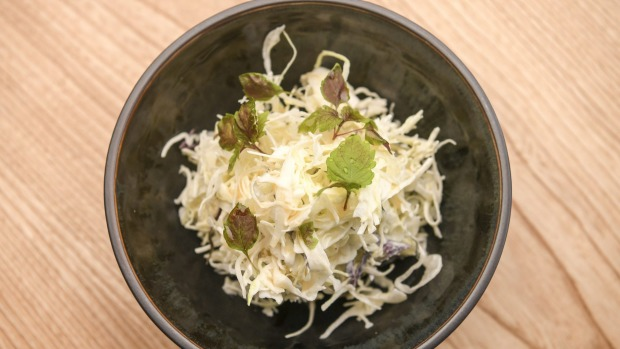 Slaw with a sly wasabi spike.