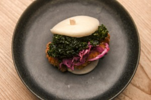 A latecomer to the bao party, but James' chicken version is a keeper.