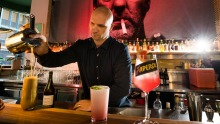 Rob Libecans mixes a drink at Melbourne's Fancy Free.
