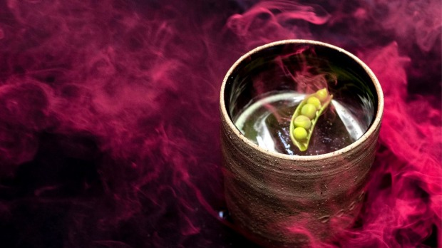 PS40's 'Burning Man' non-alcoholic cocktail, which is made withSeedlip Garden, rosemary smoked pea and burnt honey.