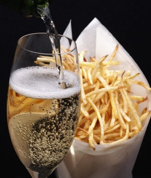 John Noble: 'French fries are one of the best combinations with champagne.'