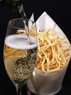Champagne and French fries is a food pairing for all time.