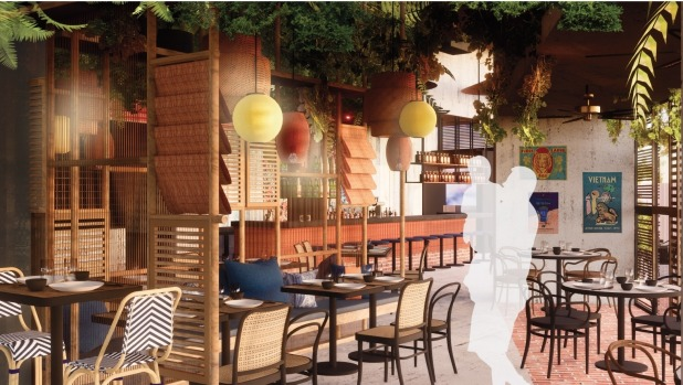 An artist's impression of Jerry Mai's Glen Waverley beer hall, Bia Hoi, which will open on August 1.