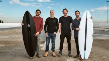 The next wave: Mark LaBrooy, URBNSURF founder Andrew Ross, Darren Robertson and Andy Allen.