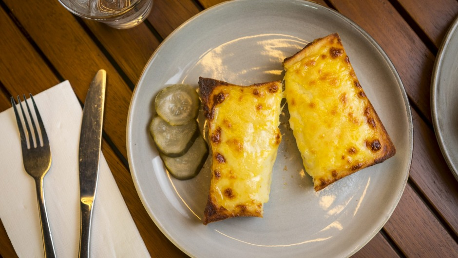 The cheese on toast (truffle optional) at Lokall cafe in Burnley.