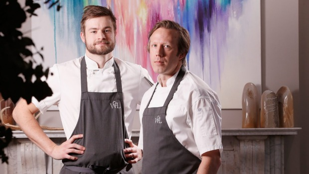 Woodland House owner-chefs Thomas Woods (left) and Hayden McFarland.