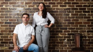 Former A Tavola chef Sandro Di Marino and manager Brooke Adey (Bea, Chiswick, Yellow).