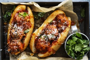 Neil Perry's spicy pork and spinach meatballs.