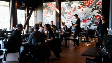Chefs Chase Kojima from Sokyo and Victor Liong from Melbourne's Lee Ho Fook led the kitchen at Chuuka.