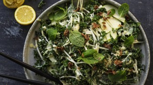 Celeriac, apple and kale slaw.