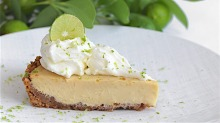The award-winning key lime pie from Miami restaurant A Fish Called Avalon.