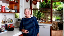 Margaret Fulton pictured in her home kitchen in 2012.