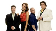 The MasterChef judges in 2009 with (then) host Sarah Wilson.