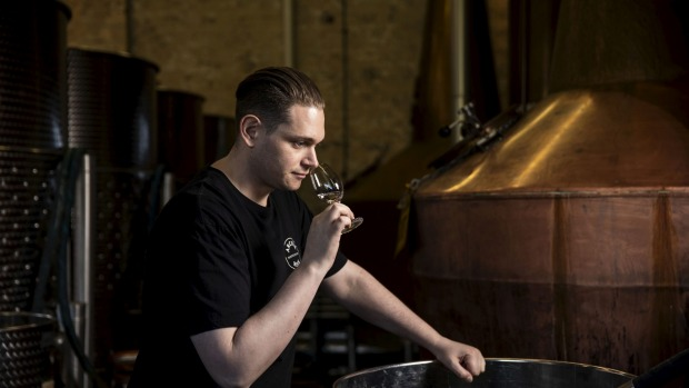 Distiller Dave Withers in the company's Rosebery distillery.