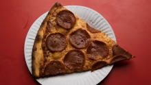 Pepperoni pizza at Leo's by the Slice.