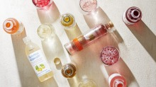 Wine water is water infused with the flavour from discarded grape skins used in winemaking.
