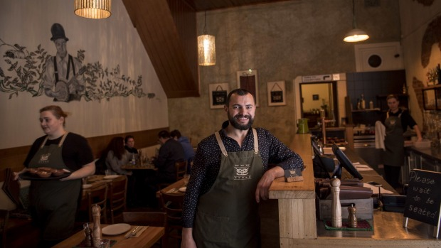 Le Lee co-owner Miki Dodevski proudly serves the Macedonian dishes he remembers his grandmother cooking.