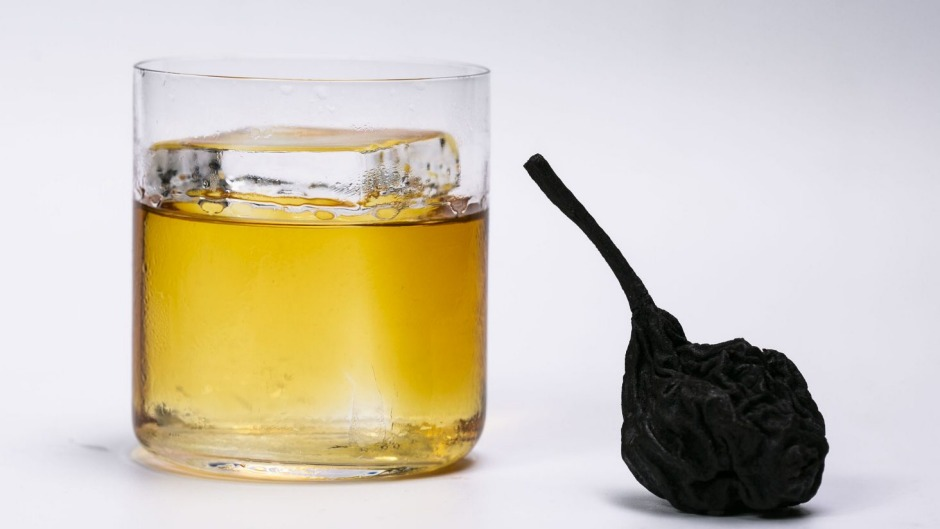 Apples and pears is a seasonal creation by Byrdi that uses the fruit in smoked, distilled and fortified forms.
