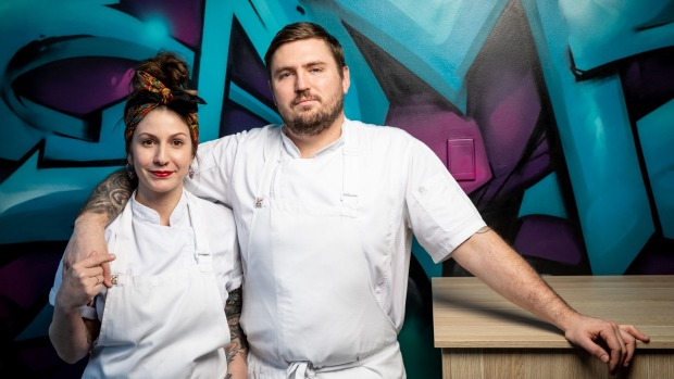 Joy restaurant in Brisbane is run by chefs Sarah and Tim Scott.