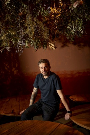Chef Jock Zonfrillo at Restaurant Orana's Sydney pop-up in Surry Hills.