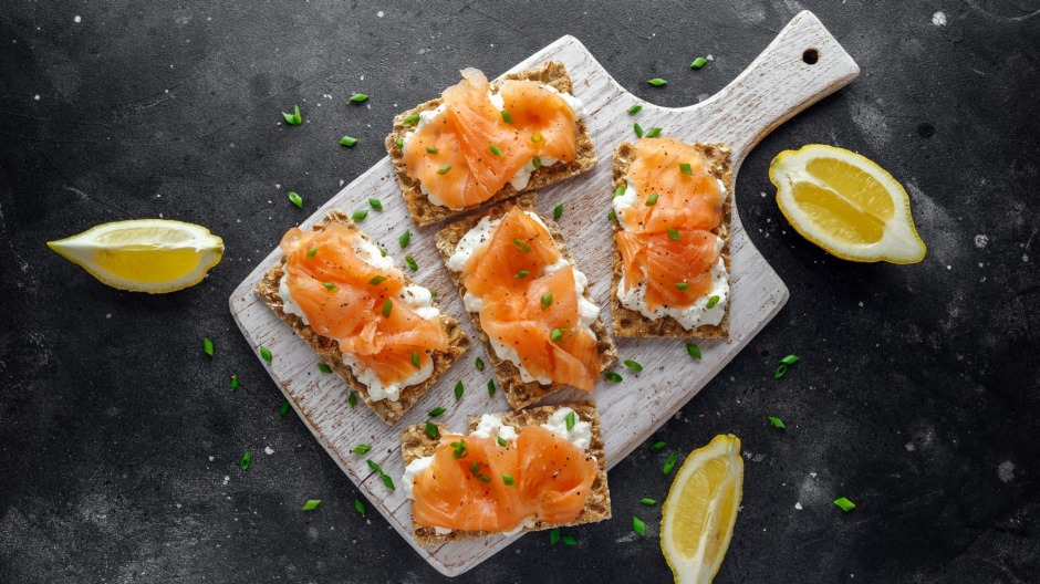 Fish and whole breads are staples of the Nordic diet.