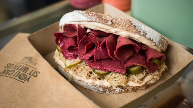 Smith & Deli's plant-based sandwiches, such as its reuben, will remain.