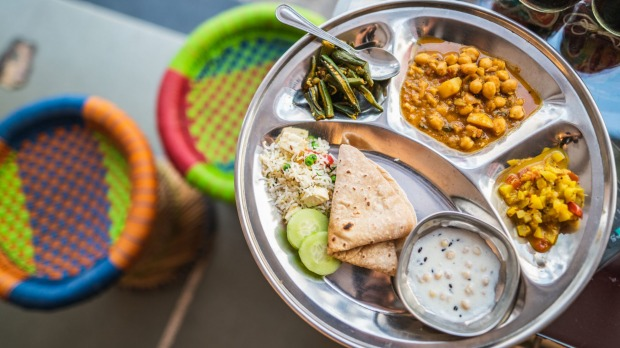 Vegan feast at Udaipur in India from Intrepid Travel.