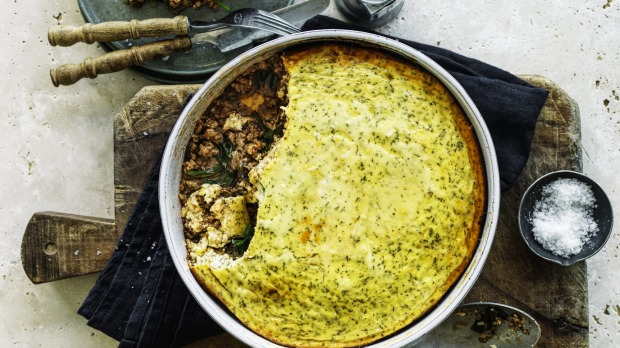 ***EMBARGOED FOR GOOD FOOD, AUG 27 ISSUE*** Jill Dupleix's Baked lamb and rice with yoghurt.