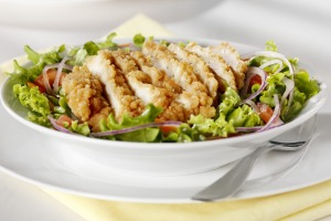 That chicken salad may not be as healthy as you think. Opt for grilled chicken over crispy or crumbed options, and be ...