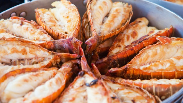 Apples can be hard to find, but you can dine like royalty on local crustaceans.