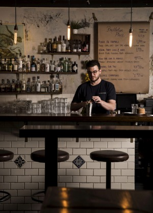 Bar manager Evan Stroeve of Bulletin Place in Sydney.