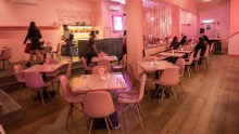 Pink: The Restaurant uses all the colours in the Barbie palette.