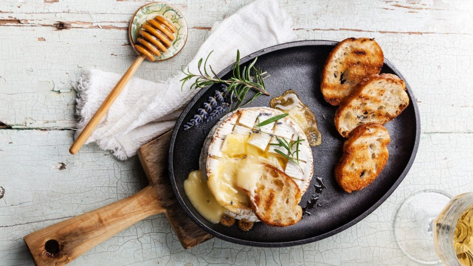In winter, baked camembert is all that's needed on the cheeseboard.