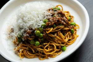 Go-to dish: Ground wagyu with thin egg noodles is like a Vietnamesed spag bol.