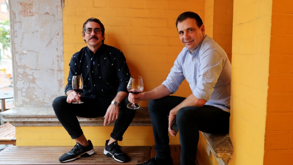 Sommeliers Glen Goodwin and Nick Hildebrandt from Yellow in Potts Point.