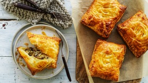 You won't miss the meat in these mushroom hand pies.