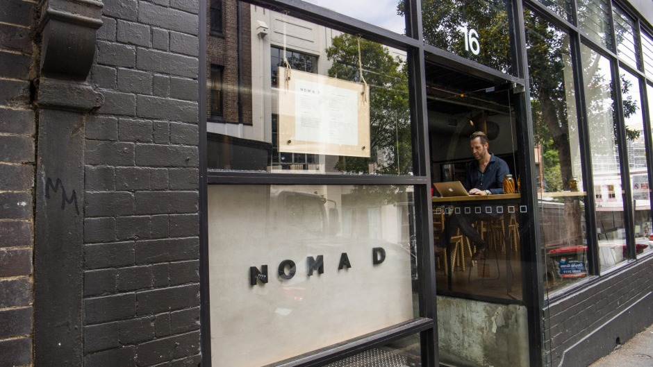Nomad's shopfront before the fire.