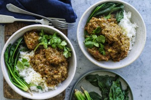 Simple spiced lamb curry